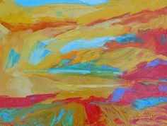 The Edge, painting by artist Bente Hansen