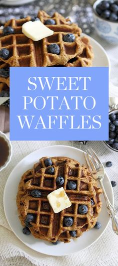Discover these delicious sweet potato waffles from Running to the Kitchen, and get more of the best clean eating recipes here.