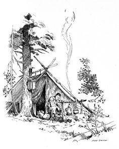 Camping Scene - Artist, Ned Smith