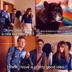 Blaine, Kurt, Rachel