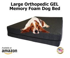 Large Dog Beds - L Orthopedic GEL Memory Foam Pet Bed - 46' X 28' X 4' 100% Made in USA- Best Luxury Large Breed, Washable Pet Bed You Can Buy | 4 LB Memory Foam - Puppy Bed Too - Introductory Price (Chocolate / Tan (Microsuede), 4.5' Deluxe Gel Memory Foam 4 lb USA Made) * Quickly view this special dog product, click the image : dog beds