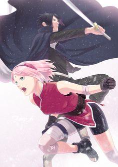 Sakura Haruno, Sasuke Sakura Sarada, Naruto Y Boruto, Naruto And Sasuke, Sasuke Sarutobi, Anime Naruto, Kpop Anime, Anime Manga, Chibi