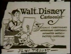 Walt Disney (Famous Business Cards) | Via: blog.thaeger.com (#waltdisney #businesscard)