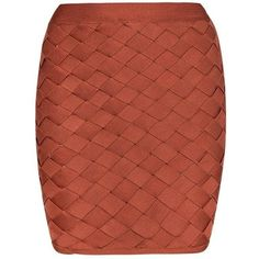 Honey couture macy rust geometric criss cross bandage skirt (135 CAD) ❤ liked on Polyvore featuring skirts, mini skirts, patterned mini skirt, red bodycon skirt, red bandage skirt, geometric print skirt and bodycon mini skirt