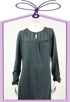 dark green Cyell nightshirt online at www.pyjama-und-co.com