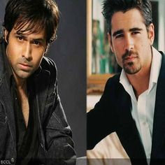 Bollywood actor Emraan Hashmi is the doppelganger of Hollywood hunk Colin Farrell. Celebrity Twins, Celebrity Look Alike, Watch Hollywood Movies, In Hollywood, Bollywood Actors, Bollywood Celebrities, Dance India Dance, Avengers Series, Colin Farrell