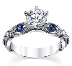 Designer Side Stones Engagement Rings at Robbins Brothers