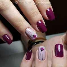 107 fall nail art ideas and autumn color combos to try on this season page 30 Classy Nails, Stylish Nails, Cute Acrylic Nails, Cute Nails, Hair And Nails, My Nails, Nail Deco, Floral Nail Art, Pretty Nail Art
