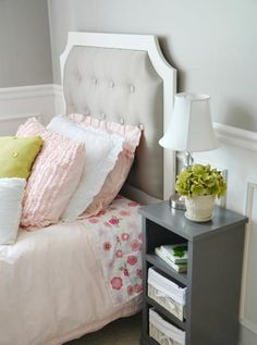 DIY Tufted Headboard Tutorial ... Beautiful! See more awesome stuff at http://craftorganizer.org