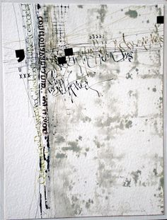 Mixed Media Textile Art, Artist Study with thanks to Textile artist Stéphanie Devaux Textus Textile Fiber Art, Textile Artists, Fibre Art, Art Doodle, Schrift Design, Black White Art, Mix Media, Letter Art, Mixed Media Collage