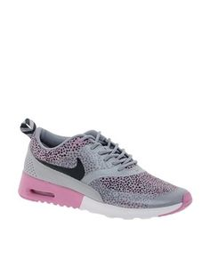 new style 42cba 18c88 Image 1 of Nike Air Max Thea Grey Pink Print Trainers
