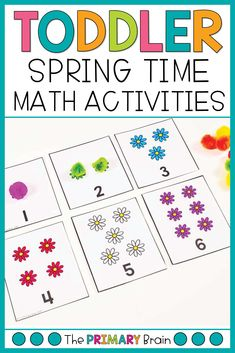 Spring toddler activities are so fun for a 2 to 3 year old child. Engage your child in learning through flower sensory bins, fine motor activities for preschoolers, preschool math lessons, toddler lesson plans, and gross motor activities for 2 year olds. All activities can be found in my Flower Toddler School Curriculum. Activities For 2 Year Olds, Sensory Activities Toddlers, Activities For Girls, Kids Learning Activities, Sensory Bins, Motor Activities, Fun Learning, Gross Motor, Fine Motor