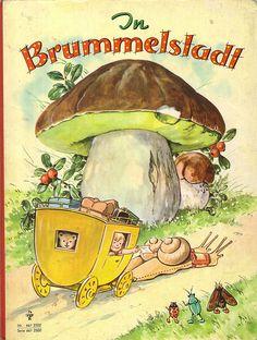 Vintage children's book ::: In Brummelstadt ::: Bilder: Fritz Baumgarten