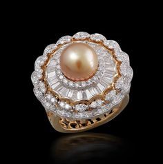 Diamond and pearl rings