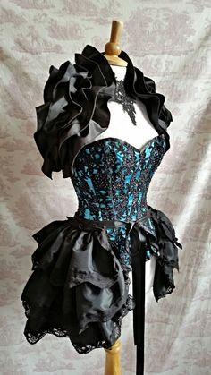 GOTHIC HALLOWEEN   Wedding Burlesque Bustle   by OpheliasFolly