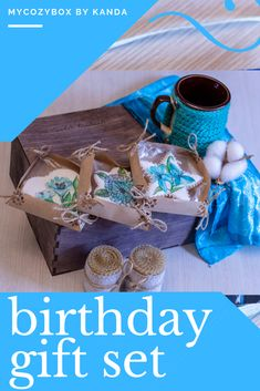 Custom birthday gift, birthday gift basket with homemade cookies, rolled beeswax candles. Perfect personalized christmas gift basket.