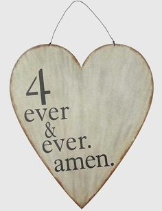 4 Ever and Ever Amen Heart Wall Decor