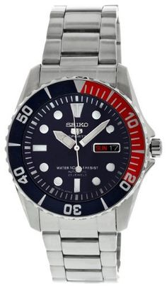 Seiko Men's SNZF15J1 Dark Blue Dial Watch Seiko. $210.00. Hardlex crystal. Automatic-self-wind movement. Case diameter: 40.5 mm. Blue dial watch. Water-resistant to 100 M (330 feet)