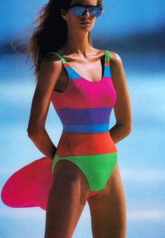 0b7441f8852 Best 80's Fashion Look : Gilles Bensimon for Elle magazine, January 1987.  Swimsuit by