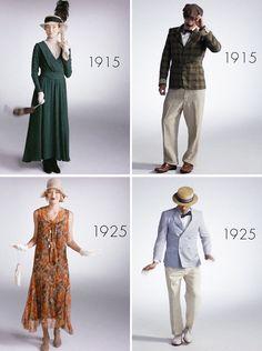 Každým rokom sa móda obliekania mení a v tomto článku vám ukážeme ako vyzeralo obliekanie sa u mužov a u žien za posledných 100 rokov.