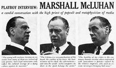 Marshall McLuhan Intervew from Playboy, 1969 - Original Magazine