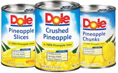 New Coupon ~ Save $0.75/2 Dole Canned Pineapple