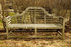 Allow your Raw Teak Lutyens Bench to weather to Silver Grey Lutyens Bench, Parking Lot, Outdoor Furniture, Outdoor Decor, Teak, Outdoor Living, Weather, Grey, Silver