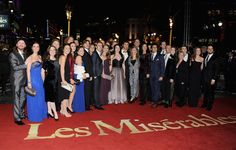 Les Mis (2012) | The cast of the West End stage production of Les Miserables attend the World Premiere of musical's first big screen adaptation at the Odeon Leicester Square (London, England) on Dec 5, 2012.