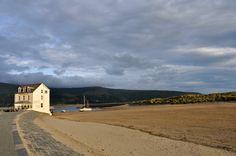 Barmouth beach near Farchynys Hall, Snowdonia, Wales, by Gloria Hansen
