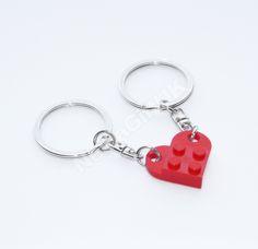 Lego Heart Keyring Red - Friends Friendship Love Valentines Gift Stocking Filler in | eBay