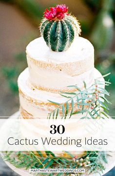 Cactus Wedding Ideas | Martha Stewart Weddings - Move over succulents! There's a new and unexpected heavy-hitter making waves in the wedding world. Enter, the cactus. You may be familiar with the prickly plant from tropical vacations and your favorite garden stores, but now it's time to get acquainted with cacti in terms of big-day décor.