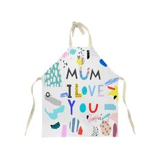 100% Cotton Twill Apron, Adult, Plain Straps - Personalised with your child's artwork - perfect gift for mummy from little ones by ScribbleGifts on Etsy