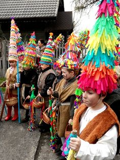 Another tradition of Easter is puchery or pucheroki - some villages near Krakow (Zielonki, Bibice) are famous for this tradition. The spectators choose not only the best dressed boy with the tallest cap but also the one who was the best and most convincing singer.