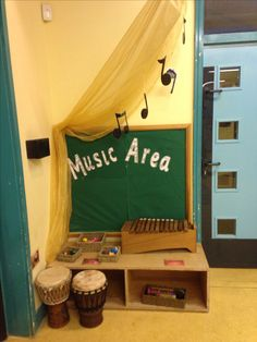 Music area. Need to add pictures of the children playing the instruments (: