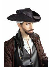 Black Suede Pirate Hat