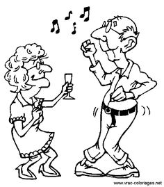Old Couple Dancing Coloring Page Free Coloring Pages Online Colouring Pages, Adult Coloring Pages, Free Coloring, Coloring Sheets, Coloring Books, Vieux Couples, Old Couples, Image Digital, Art Impressions