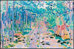 Jan SLUITERS (Nederlands kunstenaar, 1881-1957): Boschlaantje, 1910