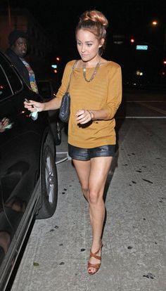 Leather shorts - must have.