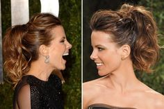 Easy Short Hair Updos That Will Take Eight Minutes or Less – HerHairdos Oscar Hairstyles, Ponytail Hairstyles, Pretty Hairstyles, Short Hair Styles Easy, Short Hair Updo, Curly Hair Styles, Wedding Hair And Makeup, Hair Makeup, Dressy Ponytail