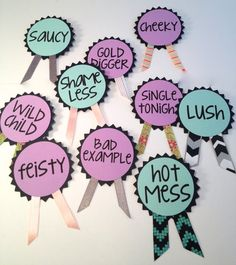 Bachelorette Party Pins Name Tags Bachelorette by LetsWearDresses