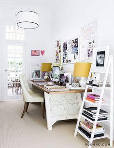 10 Offices that Optimize Above the Desk Décor (via http://Bloglovin.com )