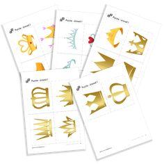Puzzle of the serie Princesses. Opi, Puzzle, Bullet Journal, Crowns, Princesses, Puzzles, Princess, Crown, Crown Royal Bags