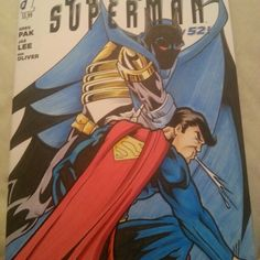 Batman and Superman blank sketch cover with original art in pencil, ink and copic markers by Rodney Fyke.