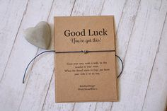 A Good luck Wish You've Got This Wish Bracelet