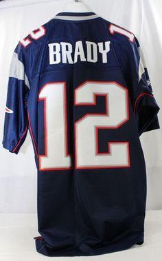 c5c6f3ab1 New England Patriots Tom Brady  12 Blue Jersey Reebok XL +2 Length Stitched