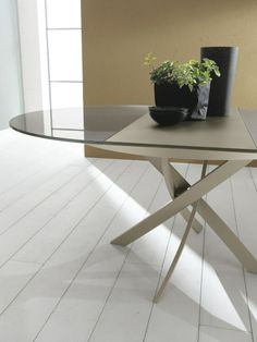 Oval crystal #table BARONE by Bontempi Casa