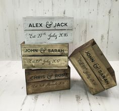 Personalised Rustic Half Crate - Perfect for Wedding centrepieces & much more