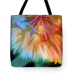 Weed Tote Bag featuring the digital art Dandelion Circus by Terry Davis