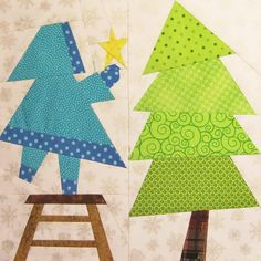Decorating the Tree - Paper Pieced Block