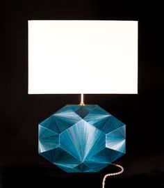 "Straw marquetry lamp ""Eloane"" in blue. Designed by Jallu, straw marquetry lamp, marqueterie de paille, interior design, super yacht interiors, luxury furniture, french craftsmanship, bespoke furniture, custom furniture, made in France, interior design inspiration"